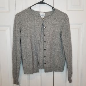 Jaclyn Smith 2 Ply Cashmere Gray Sweater Small